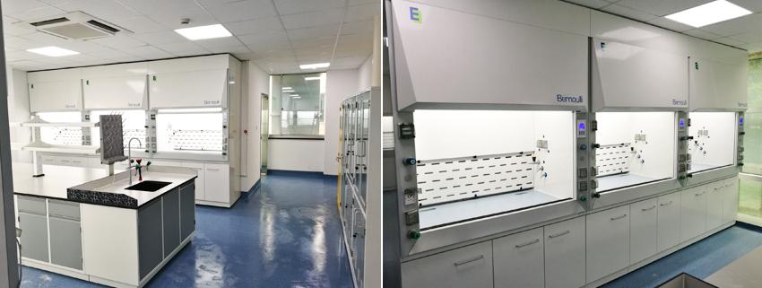 上海特化医药研发中心新建实验室层流幕通风柜应用