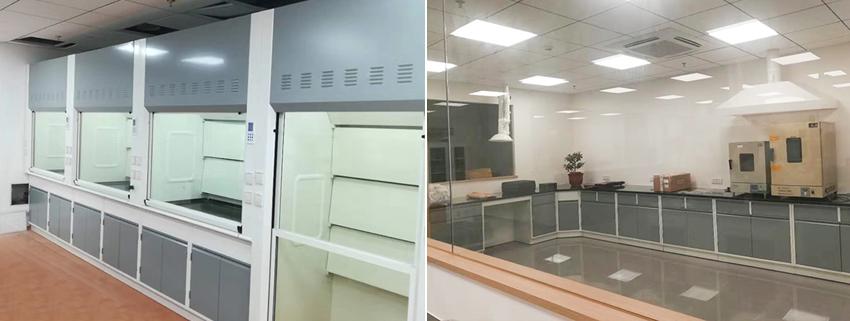 湖北宜化集团山西交城研发中心新建实验室通风柜实验台应用