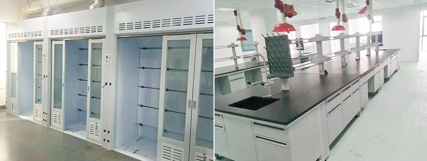 山西美锦能源新建实验室通风柜实验台应用